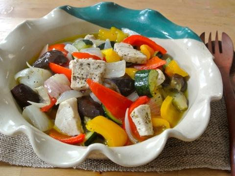 カジキと夏野菜のオイル煮01